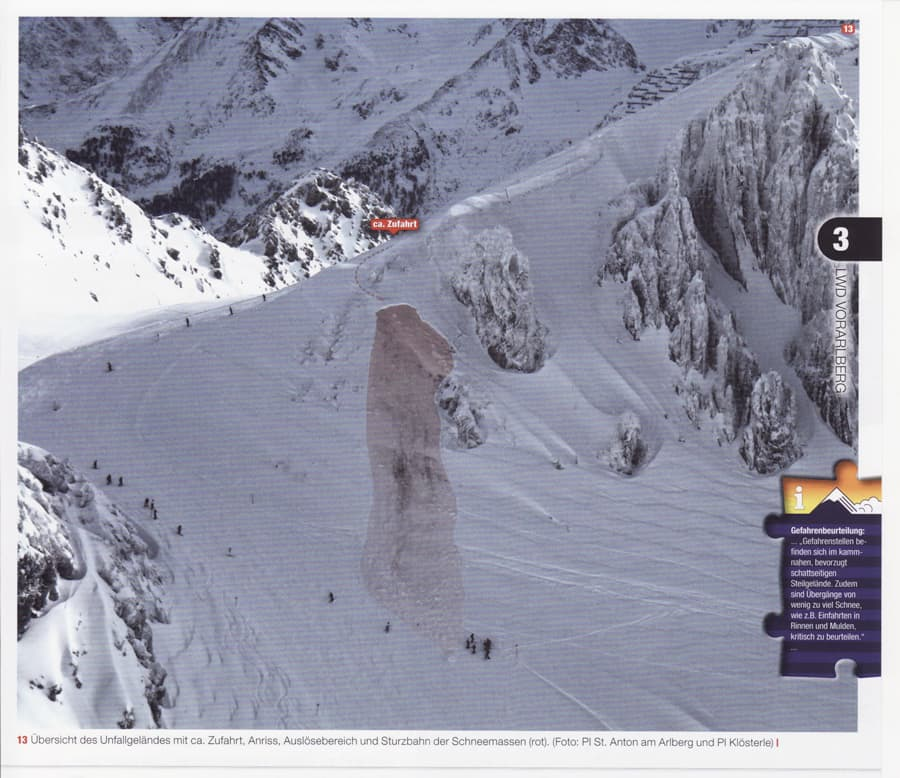 Avalanche accident St. Anton Schindlergrat