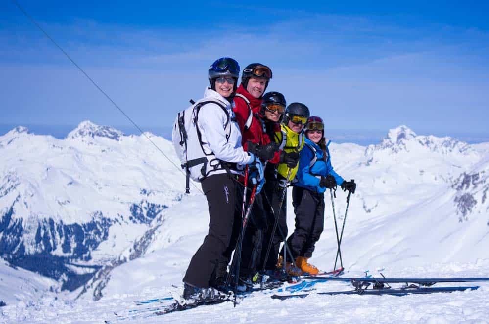 Family off piste guiding St. Anton